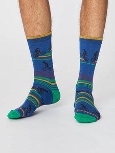 royal blue bamboe sokken