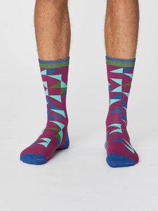bietrood bamboe sokken