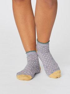 grijze bamboe enkel sokken