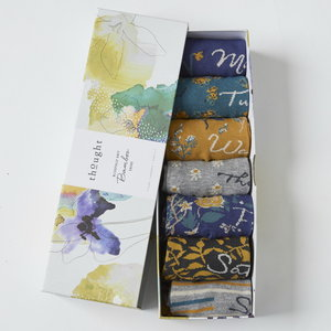 floral bamboe sokken