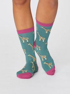 bamboe sokken met giraf