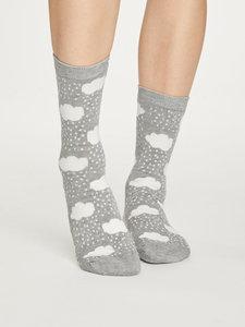bamboe sokken met wolkjes €7,95