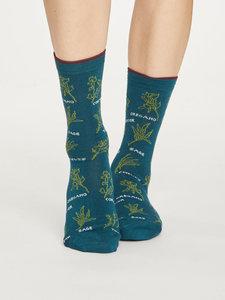 Bamboe dames sokken Herby deep teal