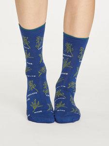 Bamboe dames sokken Herby sapphire blue