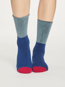 sapphire blue wandelsokken