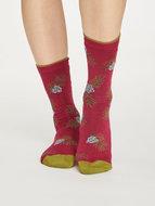 Bamboe-sokken-Foliage-rood