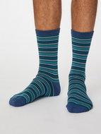 gestreepte sokken denim