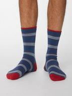 denim gestreepte bamboe sokken