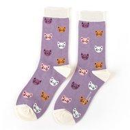 bamboe-sokken-lavendel-kitty-faces