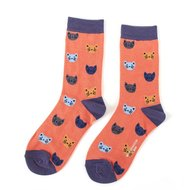 bamboe-sokken-oranje-kitty-faces