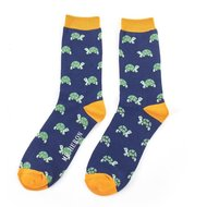 turtles navy bamboe sokken