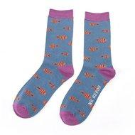 bamboe-mr.-Heron-little-fish-teal-sokken