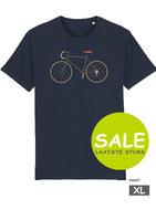 fiets blauw heren t-shirt