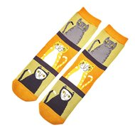 Katten prints dames sokken