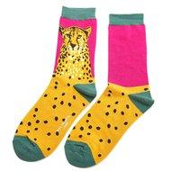 sokken met cheetah print