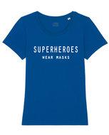 superheroes wear masks t-shirt dames