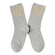 mae west tekst op sokken