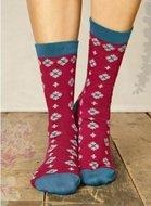 Sneeuwvlokje-sokken-fuschia-bamboe