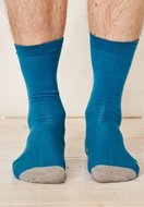 Bamboe-blauwe-sokken-Solid-Jack