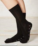 zwarte bamboe sokken met stipjes