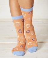 Bamboe sokken met perzik kleur