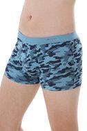 fairtrade boxershort camouflage print blauw