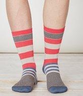 bamboe raspberry streepjes sokken