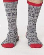 Xmas grey bamboe sokken