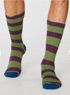 bamboe streep sokken