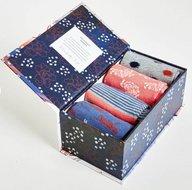sashiko bamboe sokken in doos