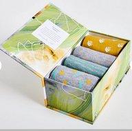 pastoral bamboe sokken in cadeaudoos