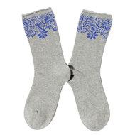 Bio-Katoenen-Blooming-grijze-sokken