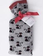 bamboe-2-paar-damessokken-zwarte-kat-in-cadeauzakje-zakje