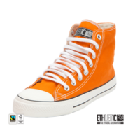Ethletic-sneaker-oranje-wit-hoog-model