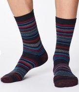 navy streepjes sokken