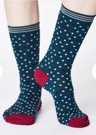 bamboe-damessokken-Niven-teal-blue-sokken