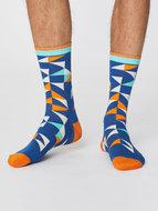 Bamboe-sokken-triangel-royal-blue
