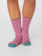 bamboe-dames-sokken-gilly-spot-magenta-pink
