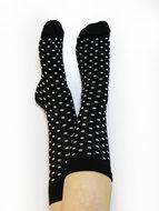 Albero zwarte sokken met stippen