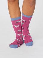 zebra bamboe sokken