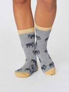 olifant print op bamboe sokken