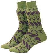 katoenen-sokken-met-flamingo-groen