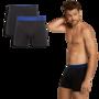 Bamboe boxershorts Levi 2 pack zwart met blauw