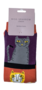 Bamboe katten sokken gestreept purple