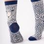 Bamboe damessokken Leopard - luipaard print cream
